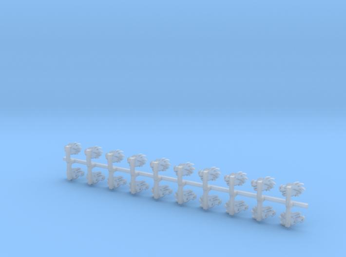 20x Dragon Head - Bent Insignias (7mm) 3d printed