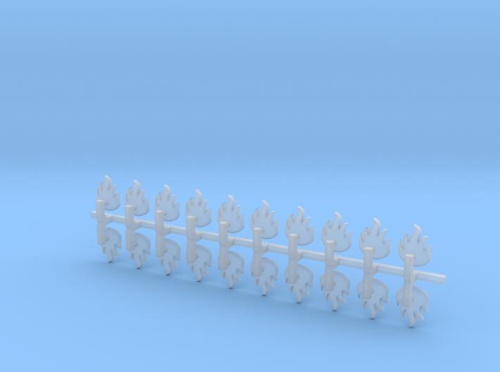 20x Dragon Legion Flame : Bent Insignia pack 3d printed