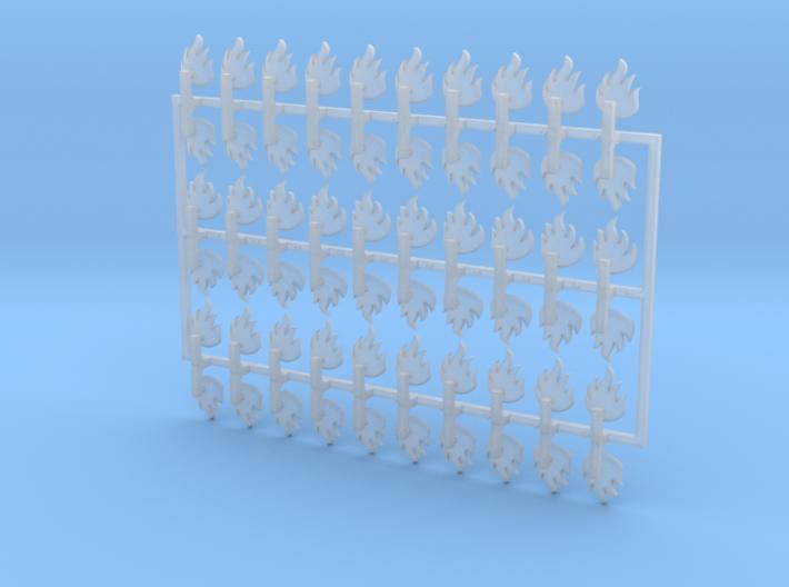 60x Dragon Legion Flame : Shoulder Insignia pack 3d printed