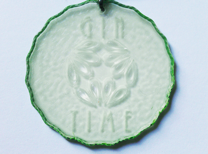 Gin Time Cucumber Slice 3d printed Edges Painted