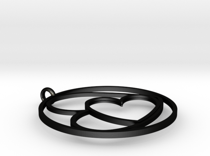 TWOJOIN PENDANT STEEL W INSERT 3d printed