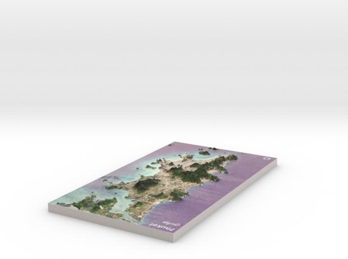 "Phuket (ภูเก็ต), Thailand Map: 8""x14"" 3d printed"