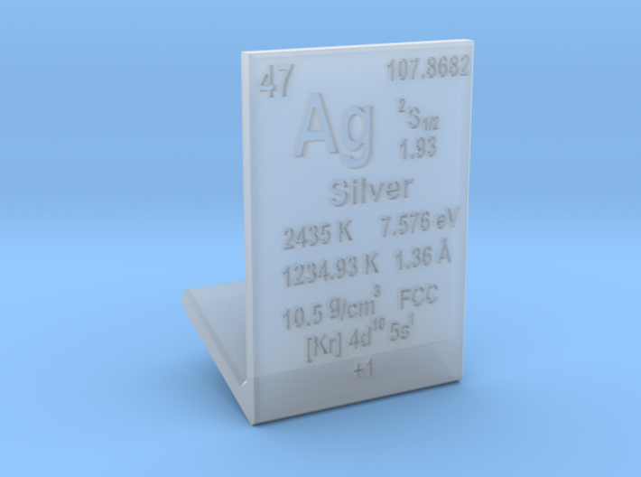 Silver Element Stand 3d printed