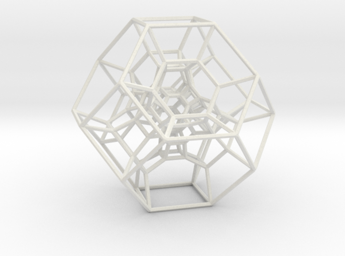 Permutohedron of order 5 (full) 3d printed