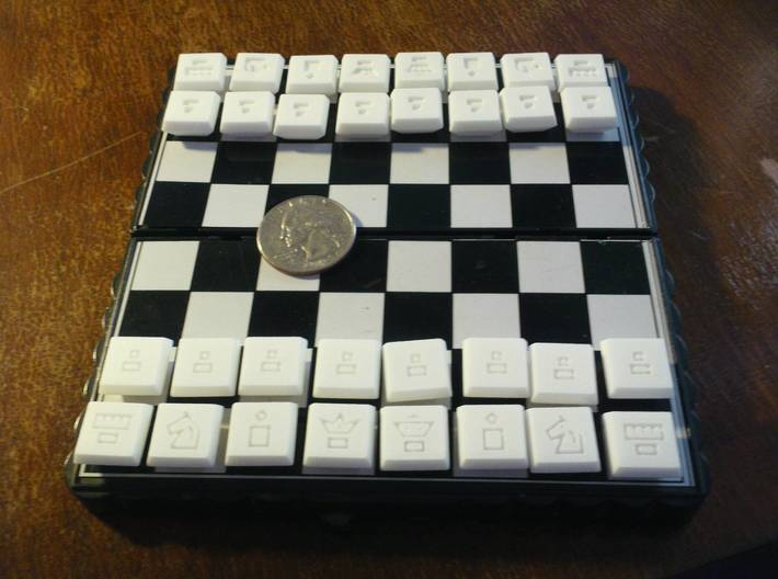 Full Chess Tiles Set 3d printed Travel size!