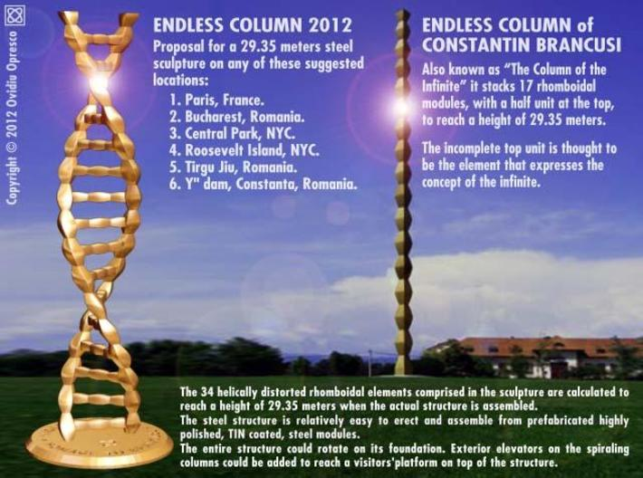 DNA Endless Column 2012 - Homage to Brancusi 3d printed