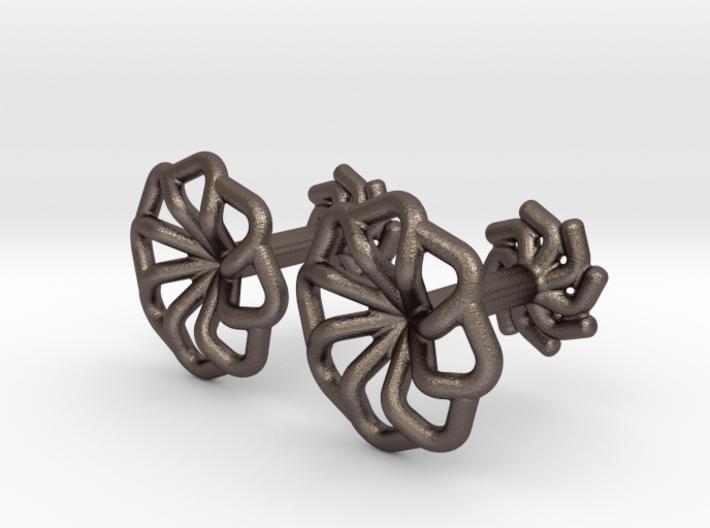 Wire Star Cufflinks 3d printed