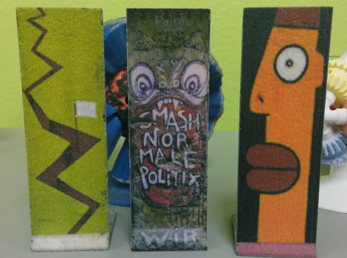 The Berlin Wall 03 3d printed Left one