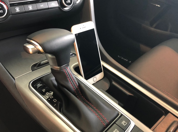 iPhone car mount/holder for Kia Optima 3d printed Kia Optima iPhone car mount holder docking in black with stable connection, Connect and  charge to Apple Carplay_1839