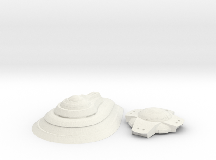 Federation 3 upper hull parts 1 1000 scale 3d printed