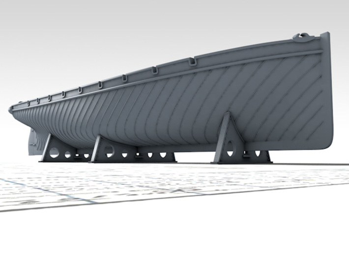 1/96 Royal Navy 42ft Sailing Launch x1 3d printed 3d render showing product detail
