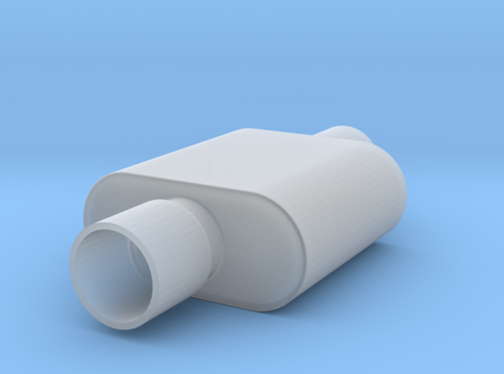1/16 Scale 1 Chamber Flowmaster Muffler 3d printed