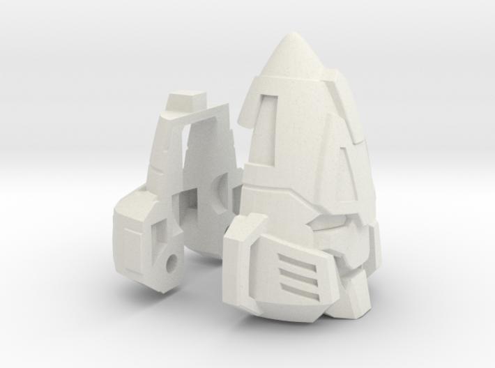Zombie Combiner Gestalt Head 3d printed