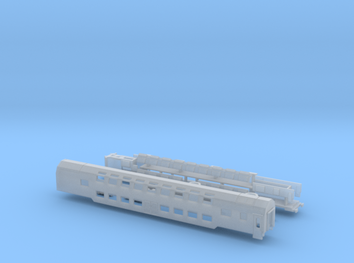 WLAB Doppelstockschlafwagen Scale TT komplett 3d printed