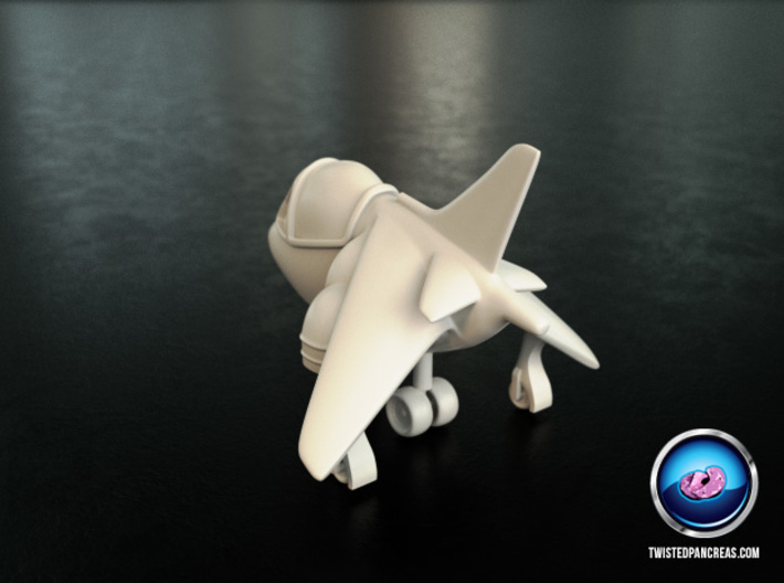 Cartoon Harrier Jump Jet 3d printed
