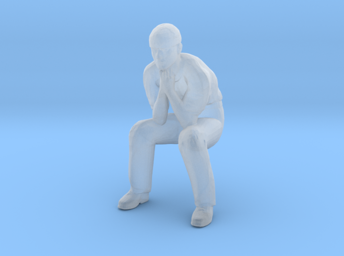 Man Sitting: Head Bandaged 3d printed
