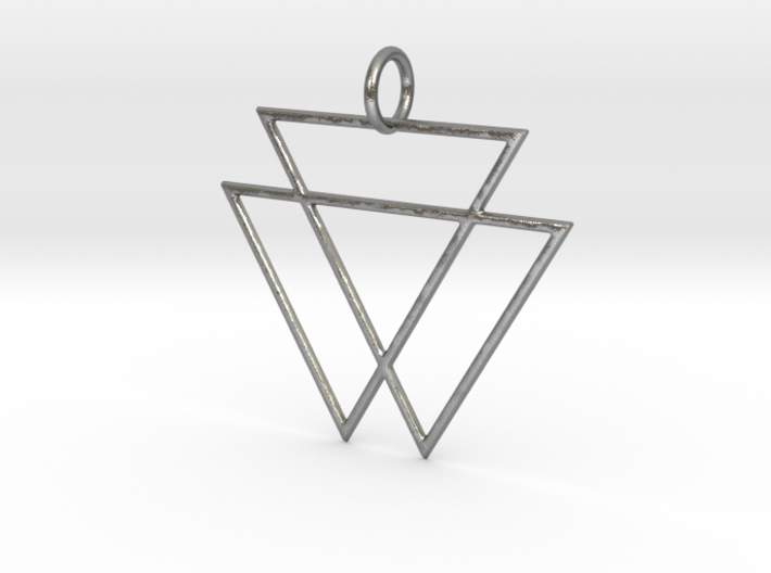VAMPYRE Silver Pendant 3d printed