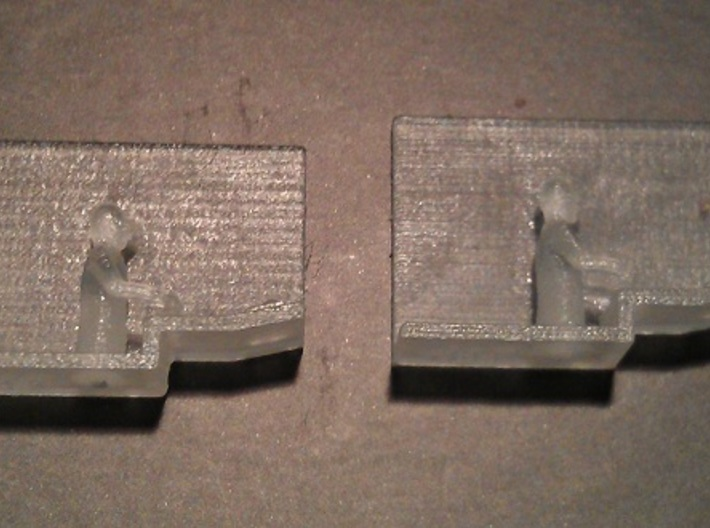 Baldwin DT6-6-2000 Center Cab N Scale 1:160 3d printed Engineers (Before Cleaning)