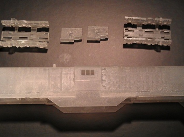 Baldwin DT6-6-2000 Center Cab N Scale 1:160 3d printed Locomotive Kit (Before Removing Handrails)