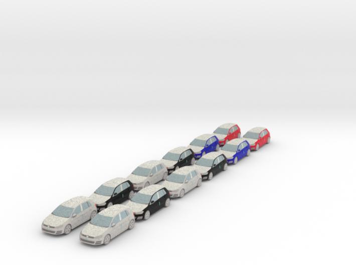 12 Wrapped cars (N 1:160) 3d printed