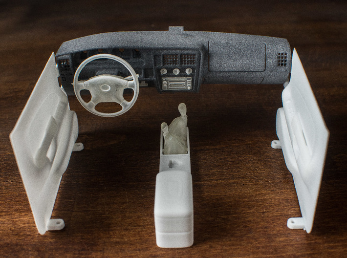 RCN123 Dashboard elements for RC4WD Toyota Tacoma 3d printed