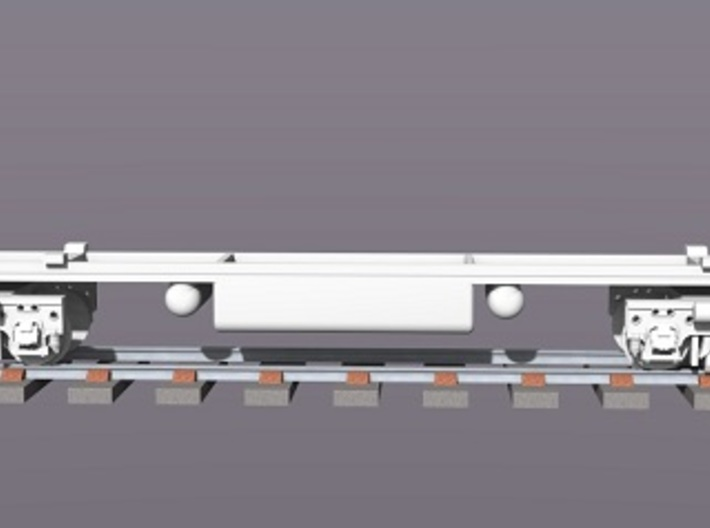 Baldwin DT6-6-2000 Dummy Chassis N Scale 1:160 3d printed Rendered Dummy Chassis & Trucks