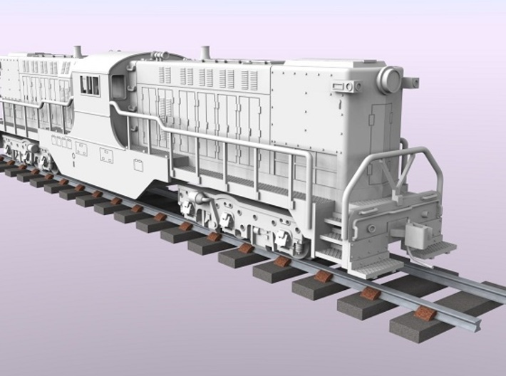 Baldwin DT6-6-2000 Dummy N Scale 1:160 3d printed Rendered Locomotive