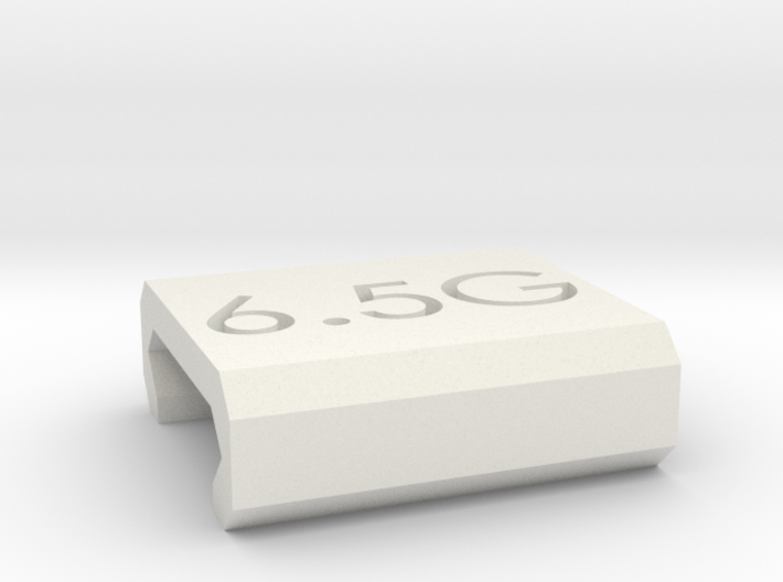 Caliber Marker - Picatinny - 6.5 Grendel 3d printed