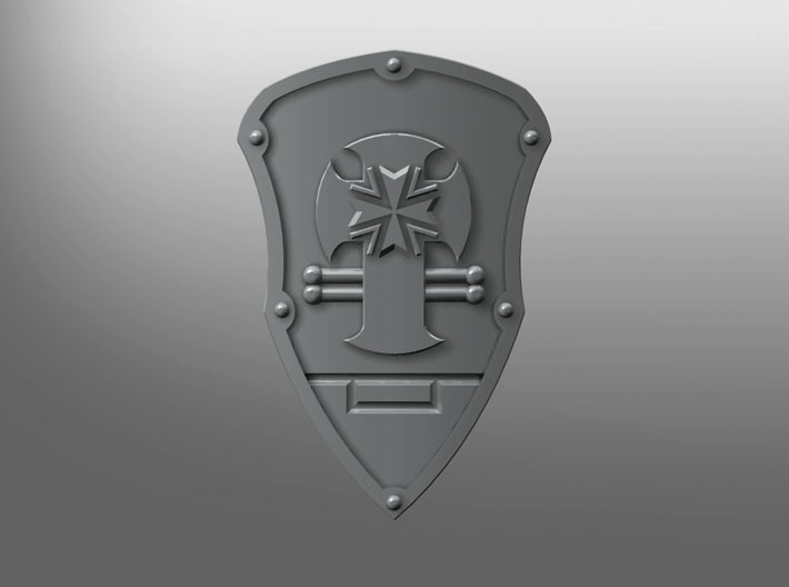Iron Fist ptrn Energy Shield (B. Teutons) (right) 3d printed