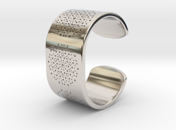 Quasicrystals Diffraction Pattern Bracelet 3d printed