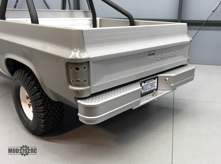 Rear Step Bumper for RC4WD Blazer Style B 3d printed Style A version shown painted and installed