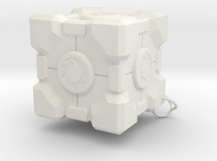 Weighted Storage Cube keychain 3d printed