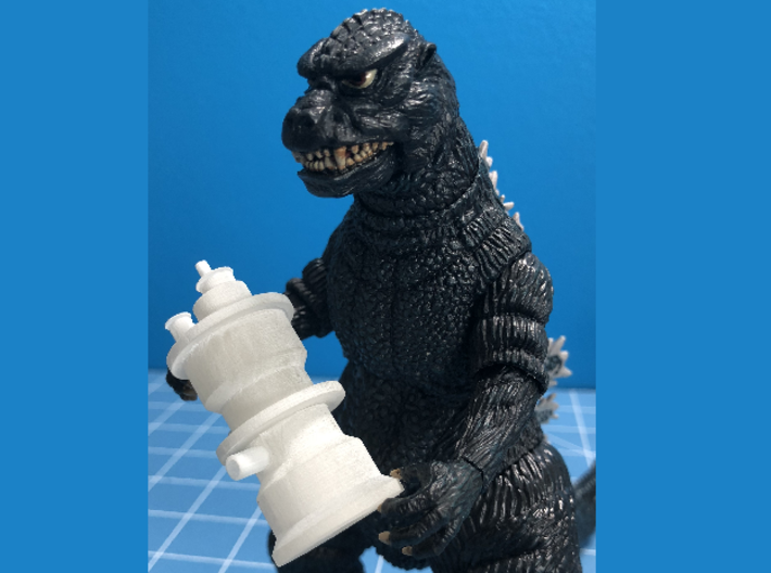 Nuclear Reactor from Godzilla 1985 3d printed Movie Pose! (Godzilla Figure not included)
