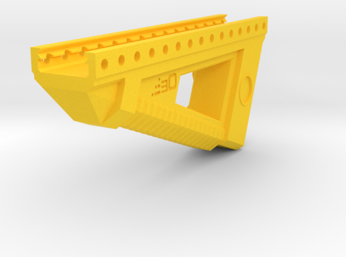 Alien Terror Angled Foregrip 3d printed