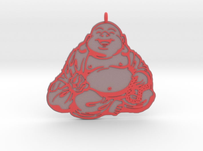 Laughing Buddha pendant colored 3d printed