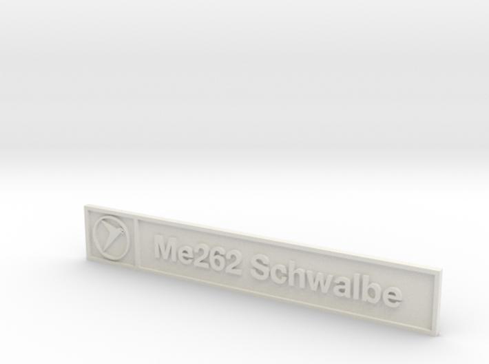 Me262 Plaque 3d printed