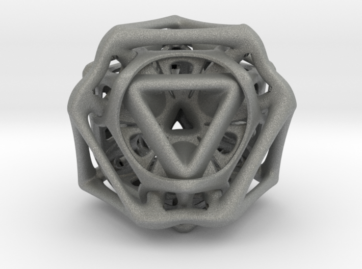 Ported looped Tetrahedron color 8.5x7.3x8 cm 3d printed