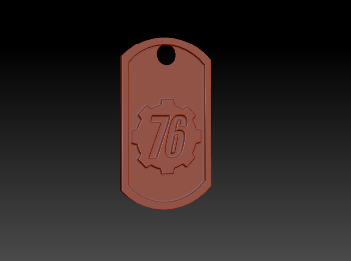 Fallout 76 Themed Dog Tag 3d printed