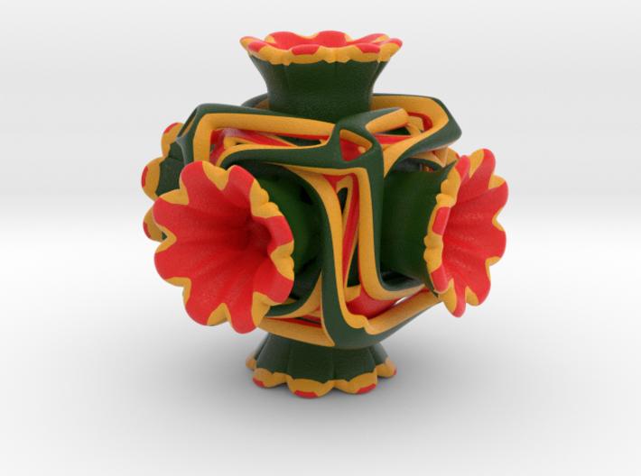 Cubeoctahedral flower 3d printed