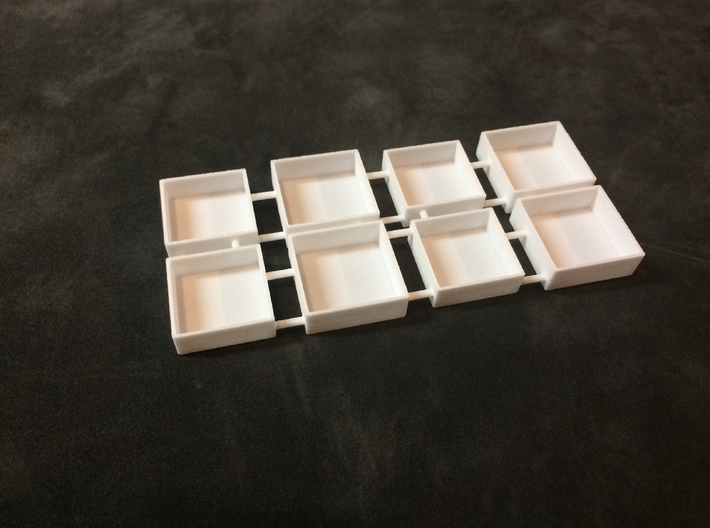 Miniature Gift Box 3/4 inch Square by 1/4 inch dp 3d printed