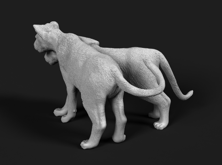 Lion 1:87 Cubs distracted while playing 3d printed