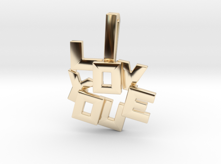 """I LOVE YOU"" Pendant 3d printed"