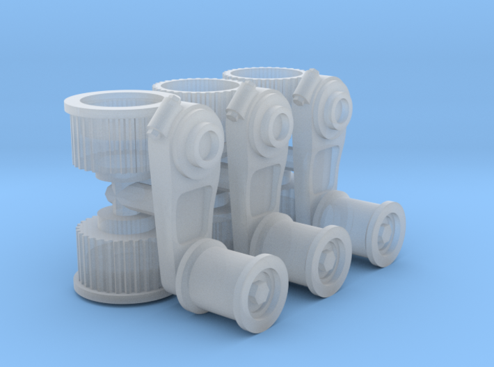 1/25 Generic Supercharger Pulleys x3 3d printed