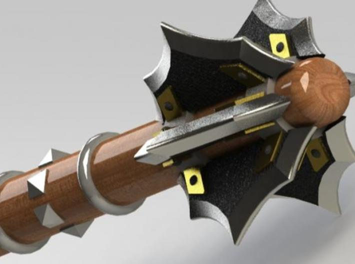 Flanged Mace MkII 3d printed