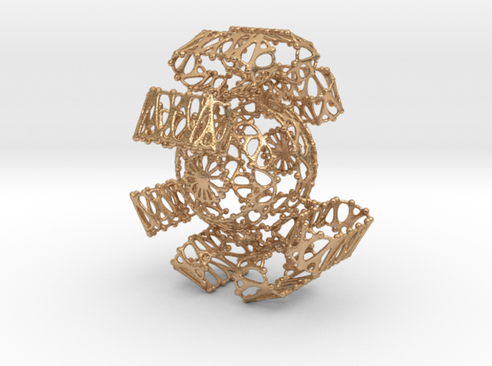 Fantasy Sphere in Twisted brackets 3d printed
