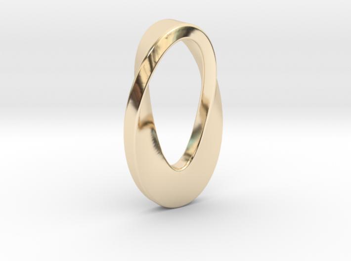 Mobius curve pendant 3d printed