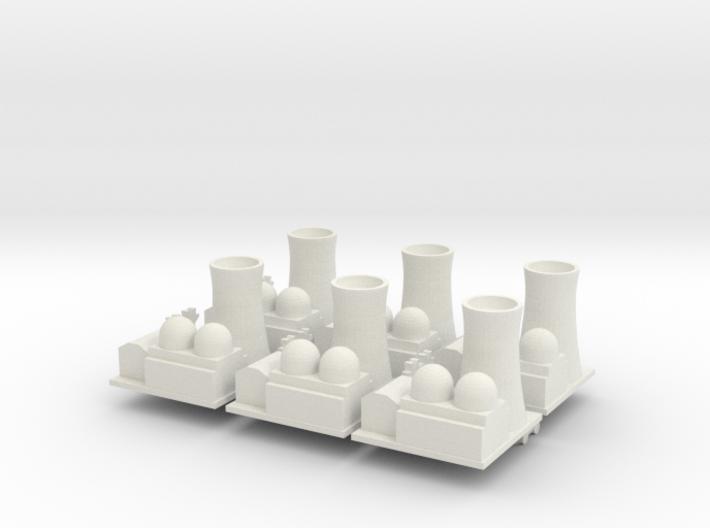 Nuclear Facility x6 3d printed