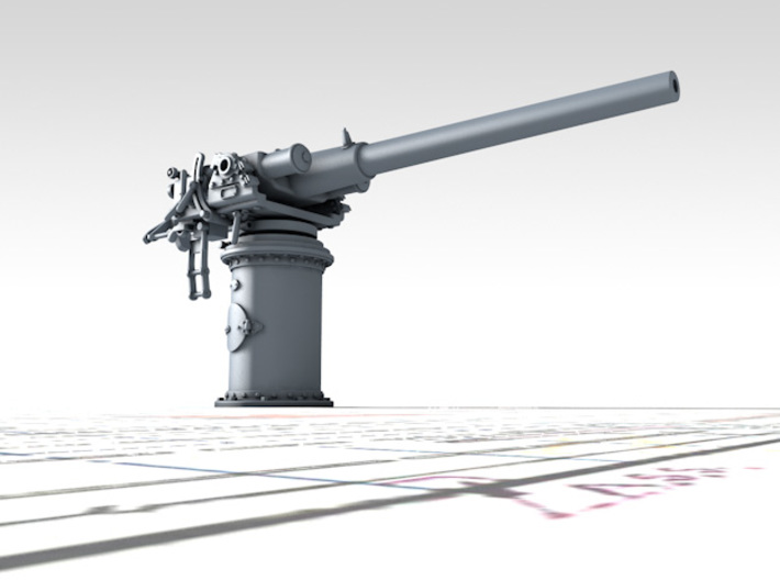 """1/72 Vickers 3-pdr 1.85""""/50 (47mm) x1 3d printed 3d render showing product detail"""