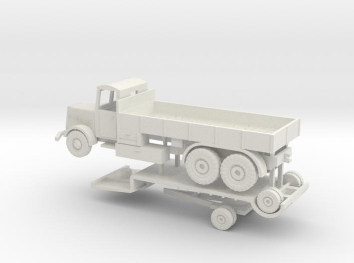1/144 Faun tank transport set 3d printed