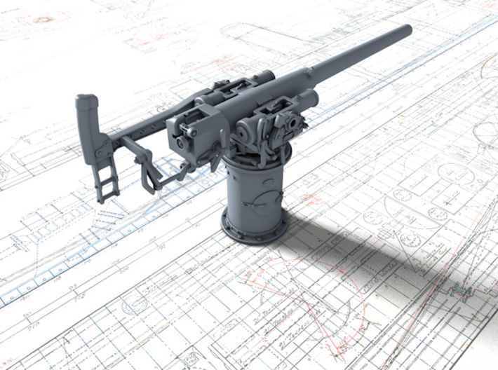 """1/144 Vickers 3-pdr 1.85""""/50 (47mm) x1 3d printed 1/144 Vickers 3-pdr 1.85""""/50 (47mm) x1"""